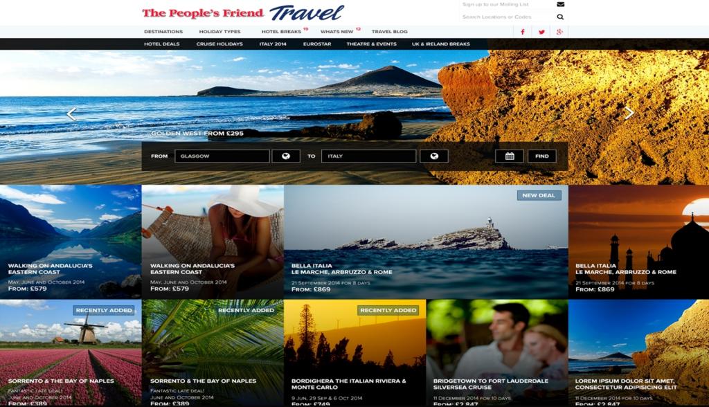 New reader travel websites for DC Thomson titles