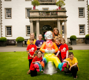 Her Royal Highness Princess Beatrice of York, Patron of the Edinburgh Children's Hospital Charity, has officially launched Oor Wullie's BIG Bucket Trail